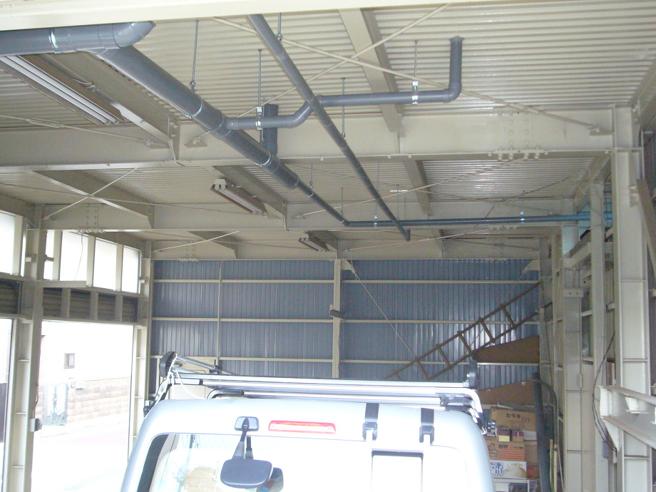 天井配管工事