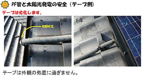 PF管こ太陽光発電の安全(テーフ例)